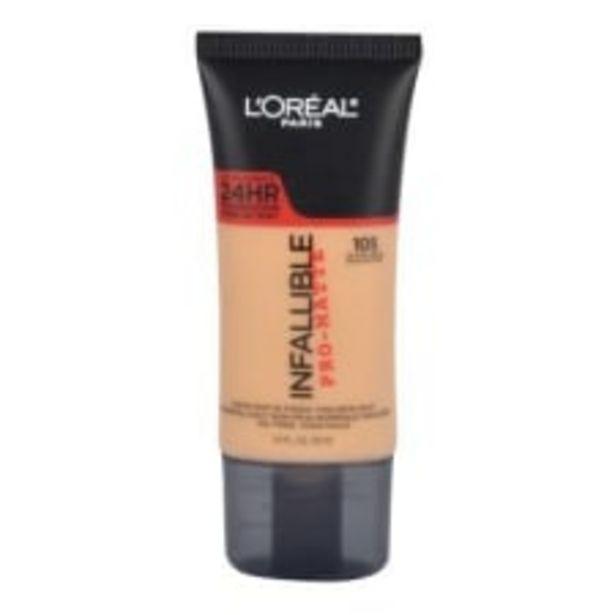 Oferta de Base de maquillaje L'Oréal Paris Infallible pro-matte 105 natural beige 30 ml por $289