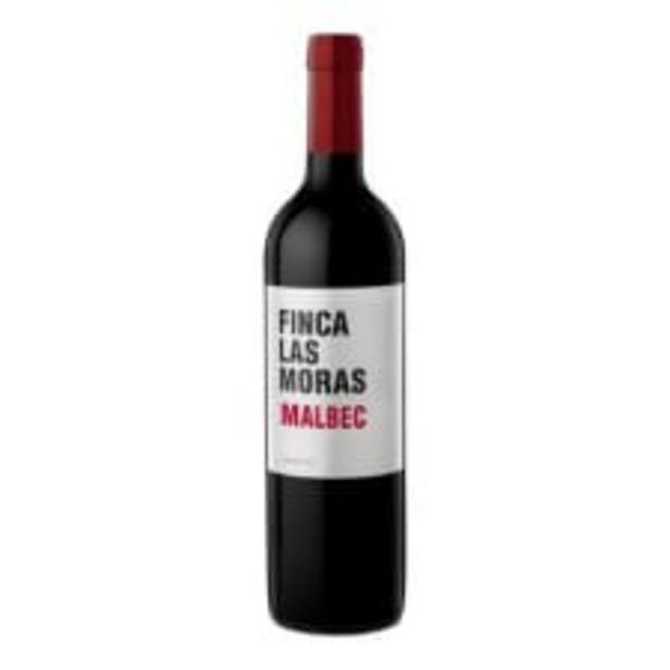 Oferta de Vino Tinto Las Moras Malbec 750 ml por $124