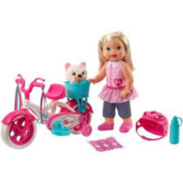 Oferta de Muñeca Little Mommy Paseo en Bici por $799