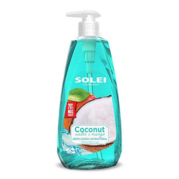 Oferta de Jabón Líquido Solei Agua de Coco y Mango 550 ml por $20