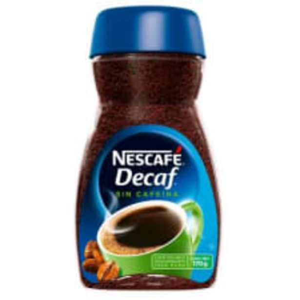 Oferta de Café soluble Nescafé Decaf descafeinado 170 g por $70.5
