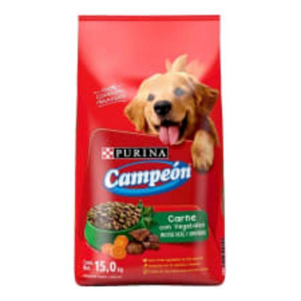 Oferta de Alimento para Perro Campeón Adulto Carne con Vegetales 15 kg por $449
