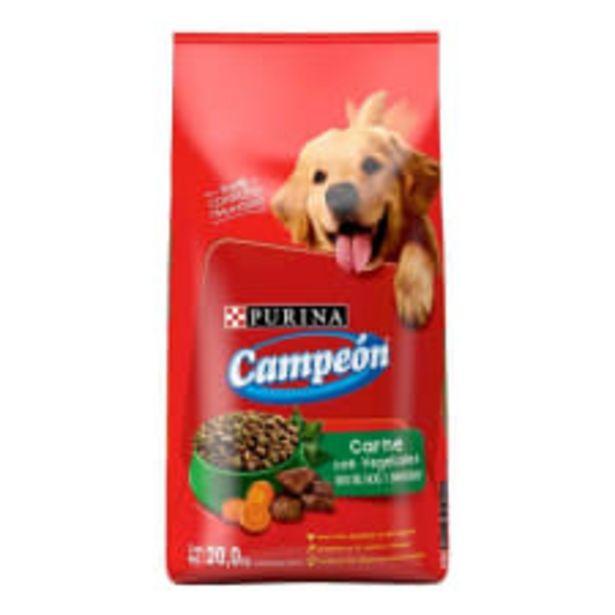 Oferta de Alimento para Perro Purina Campeón Adulto Carne Asada con Vegetales 20 Kg por $609