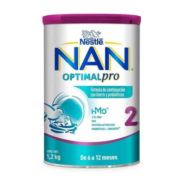 Oferta de Fórmula de continuación Nan optimal pro 2 de 6 a 12 meses 1.2 kg por $365