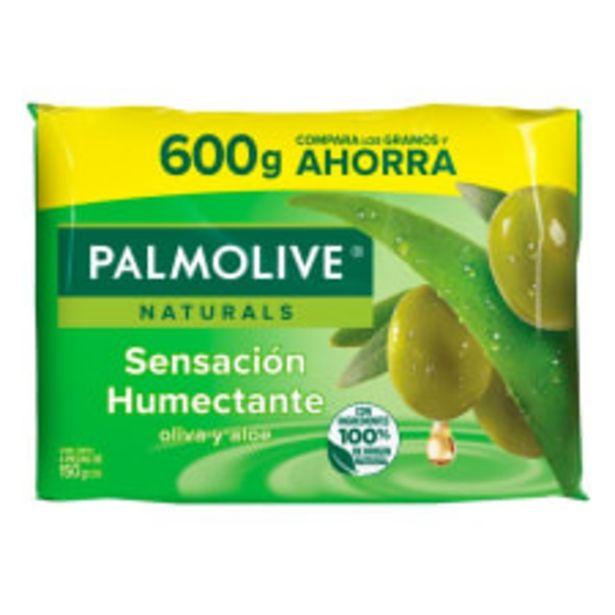 Oferta de Jabón de tocador Palmolive Naturals sensación humectante oliva y aloe 4 pzas de 150 g c/u por $31.8