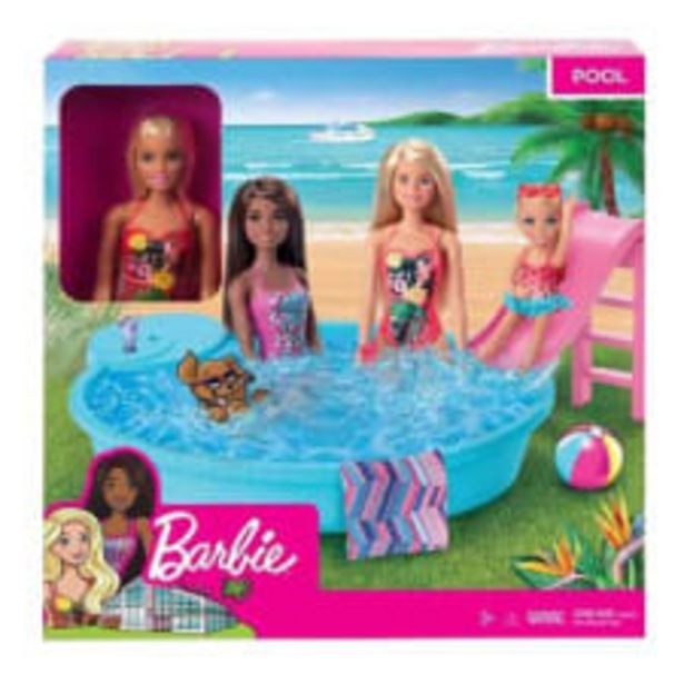 Oferta de Muñeca Barbie Estate Piscina Glam por $329