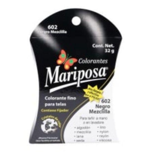 Oferta de Colorante para telas Mariposa 602 negro mezclilla 32 g por $18.5