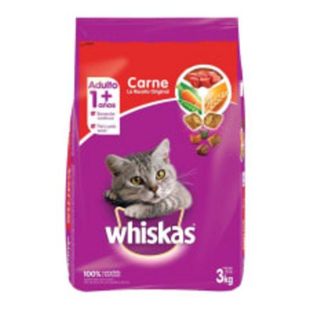 Oferta de Alimento para Gato Whiskas Adulto Carne 3 kg por $195