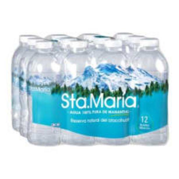 Oferta de Agua de manantial Sta. María 12 botellas de 355 ml c/u por $45.9
