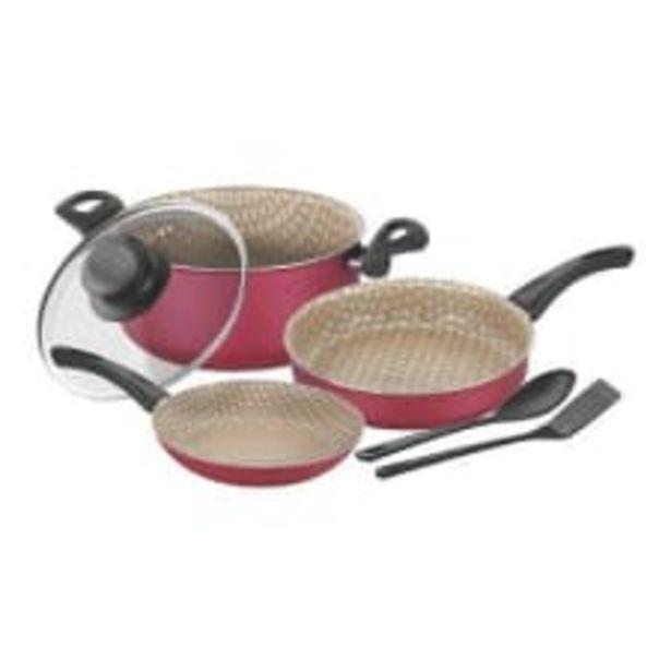 Oferta de Batería de Cocina Tramontina Paris Rojo 6 Piezas por $1099