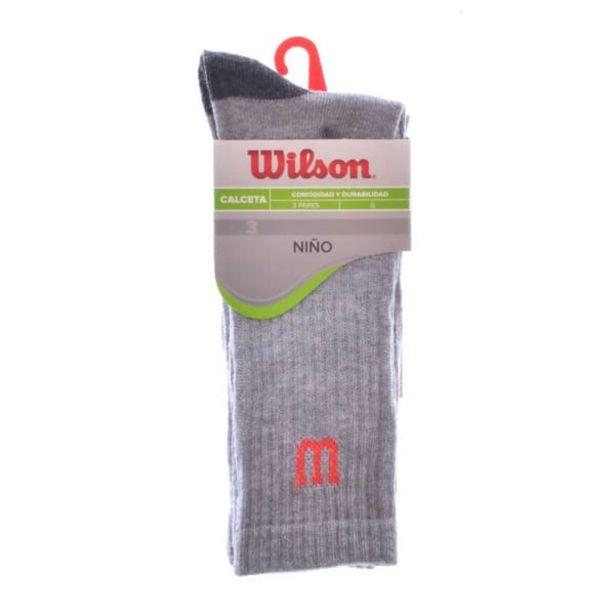 Oferta de Calceta Wilson Talla G de 21.5 a 23 cm Jaspe 3 Pares por $59