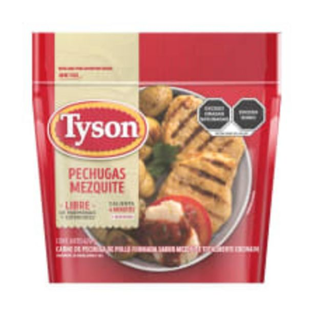 Oferta de Pechugas Tyson sabor mezquite totalmente cocinada 670 g por $162