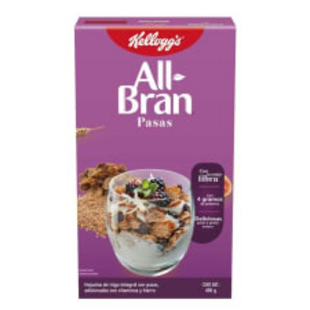 Oferta de Cereal Kellogg's All Bran pasas 490 g por $39