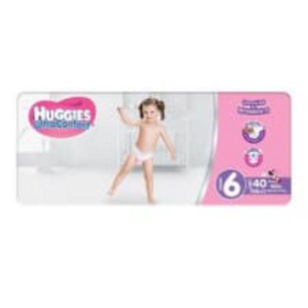 Oferta de Pañales Huggies UltraConfort etapa 6 niña 40 pzas por $229
