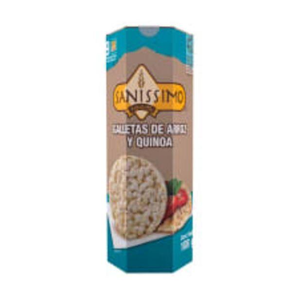 Oferta de Galleta de arroz Sanissimo con quinoa 108 g por $51