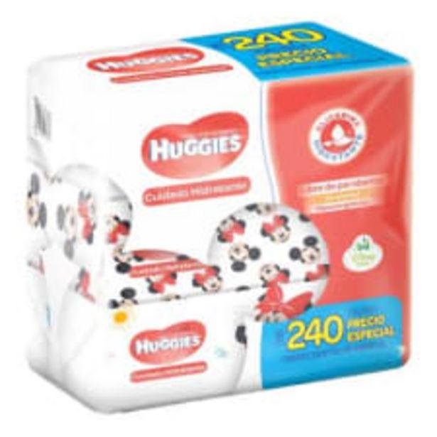 Oferta de Toallitas húmedas Huggies cuidado hidratante 3 paquetes con 80 pzas c/u por $109