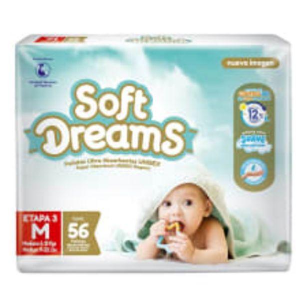 Oferta de Pañales Soft Dreams etapa 3 mediano unisex 56  pzas por $169