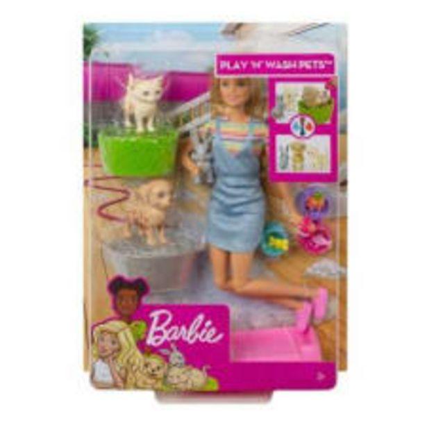 Oferta de Muñeca Barbie Mattel Baño de Perritos por $429