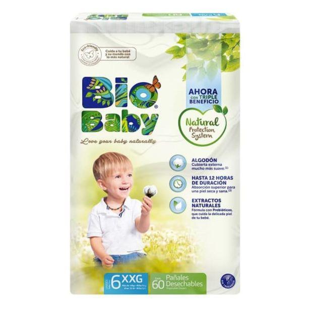 Oferta de Pañales Bio Baby talla 6 extra grande unisex 60 pzas por $287