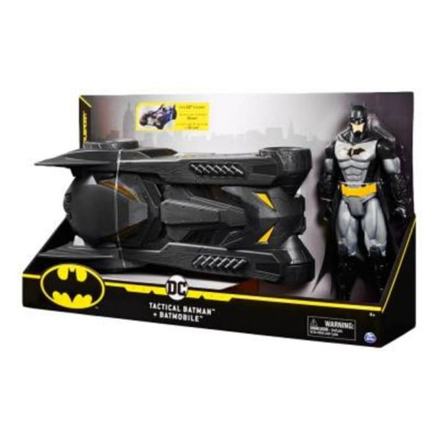 Oferta de Figura Batman y Batimóvil DC SPIN MASTER 12 pulgadas por $599