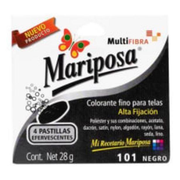 Oferta de Colorante para telas Mariposa 101 negro 4 pzas 28 g por $24.9