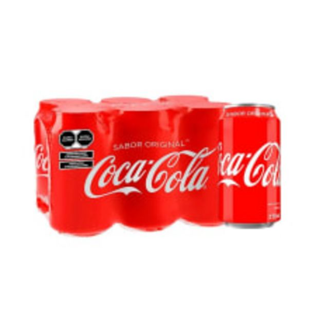 Oferta de Refresco Coca Cola 6 latas de 355 ml c/u por $77
