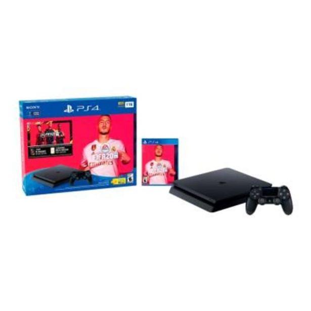 Oferta de Consola PlayStation 4 1TB más 1 Videojuego Fifa 20 por $7990