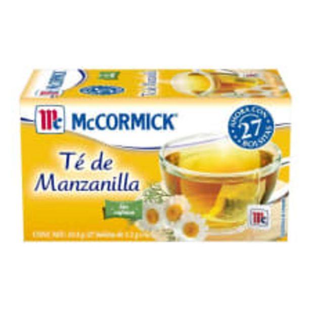 Oferta de Té de manzanilla McCormick 27 bolsitas de 1.2 g c/u por $18