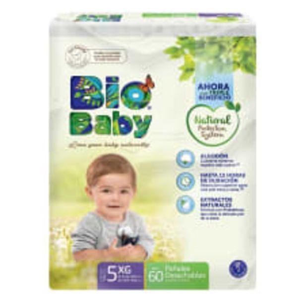 Oferta de Pañales Bio Baby talla 5 extra grande unisex 60 pzas por $195