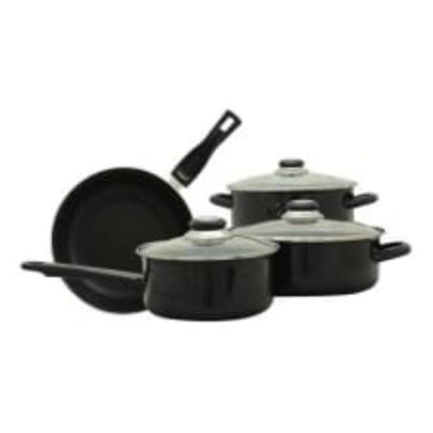 Oferta de Batería de Cocina Cinsa Madison Negro 7 Piezas por $684.01