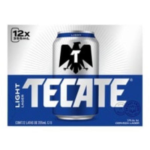 Oferta de Cerveza clara Tecate light 12 latas de 355 ml c/u por $130