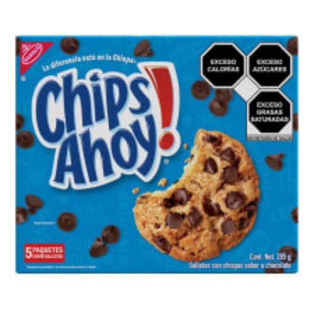 Oferta de Galletas Chips Ahoy 5 paquetes con 6 galletas 285 g por $28.15