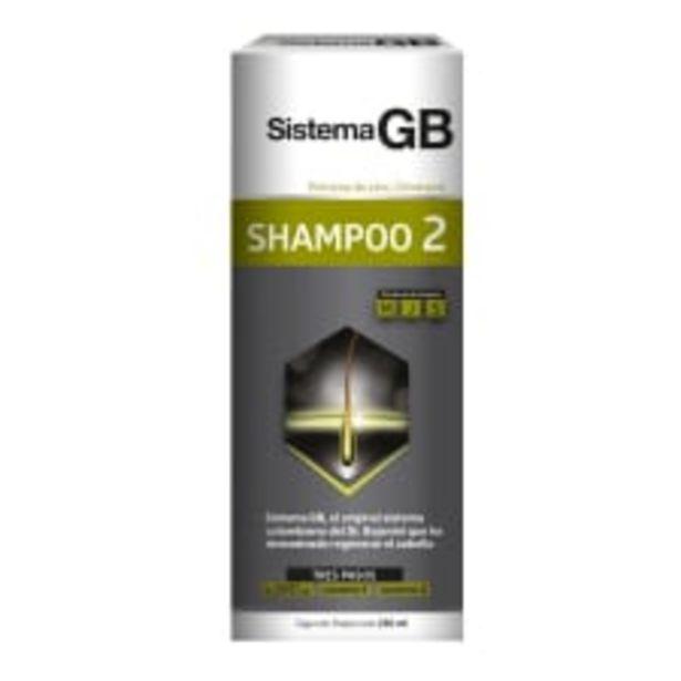 Oferta de Shampoo Sistema GB dos para hombre 230 ml por $109