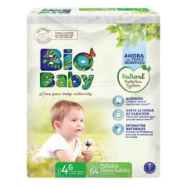 Oferta de Pañales Bio Baby talla 4 grande unisex 64 pzas por $195