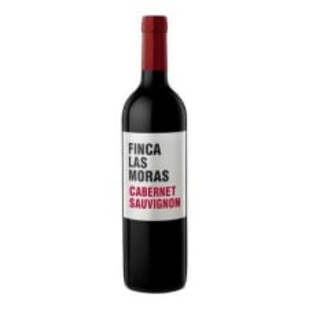 Oferta de Vino Tinto Las Moras Cabernet Sauvignon 750 ml por $124