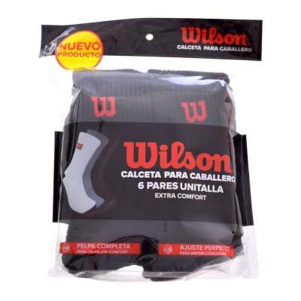 Oferta de Calceta Wilson Extra Comfort Unitalla Negro 6 Pares por $125