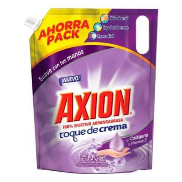 Oferta de Lavatrastes líquido Axion toque de crema con colágeno 1.3 l por $49.9