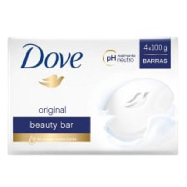 Oferta de Jabón de tocador Dove original 4 barras de 100 g c/u por $52.5