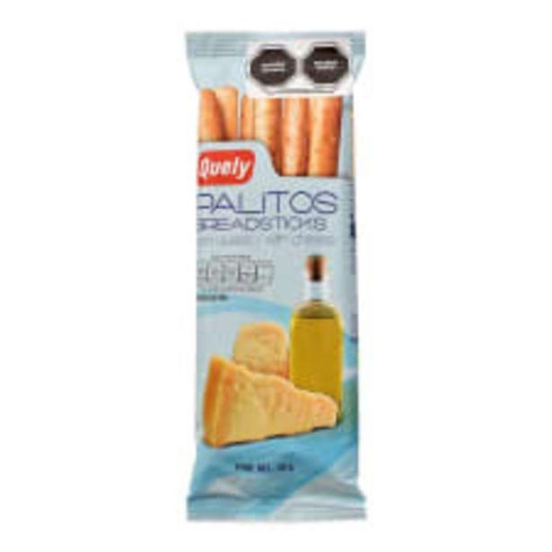 Oferta de Palitos de pan Quely con queso 50 g por $12.5