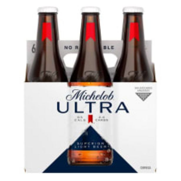 Oferta de Cerveza clara Michelob Ultra superior light 6 botellas de 355 ml c/u por $74.5
