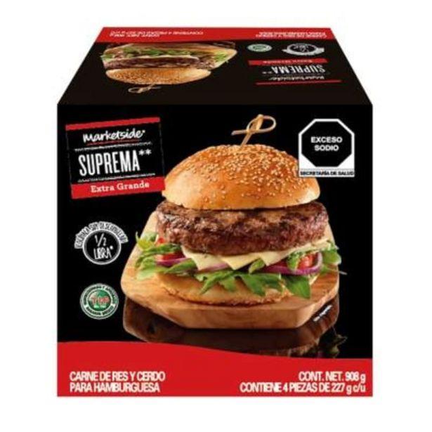 Oferta de Carne para hamburguesa Marketside suprema extra grande con 4 pzas de 227 g c/u por $117