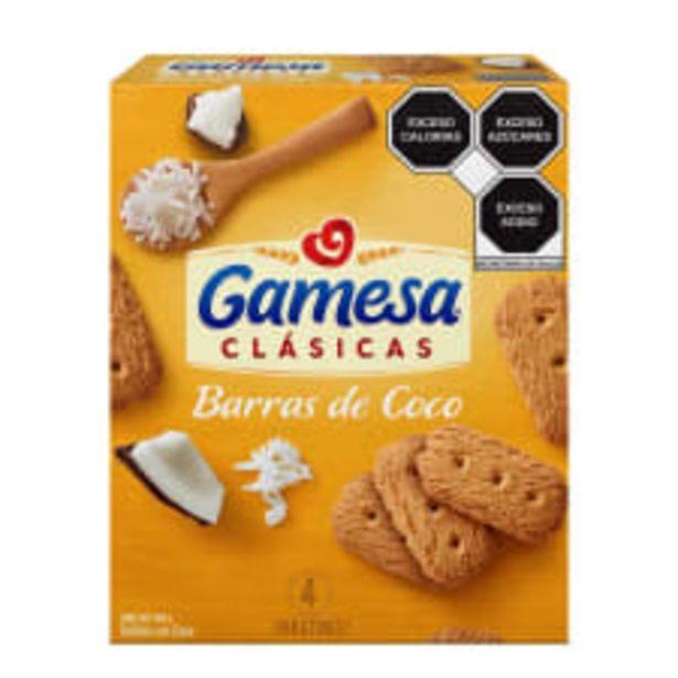 Oferta de Galletas Barras de coco Gamesa clásicas 4 paketines  de 117 g c/u por $33.6
