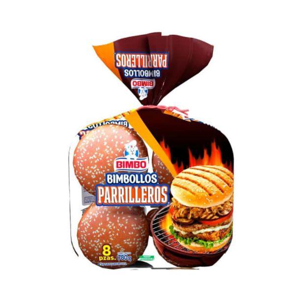 Oferta de Pan para hamburguesa Bimbo Bimbollos parrilleros 8 pzas por $52