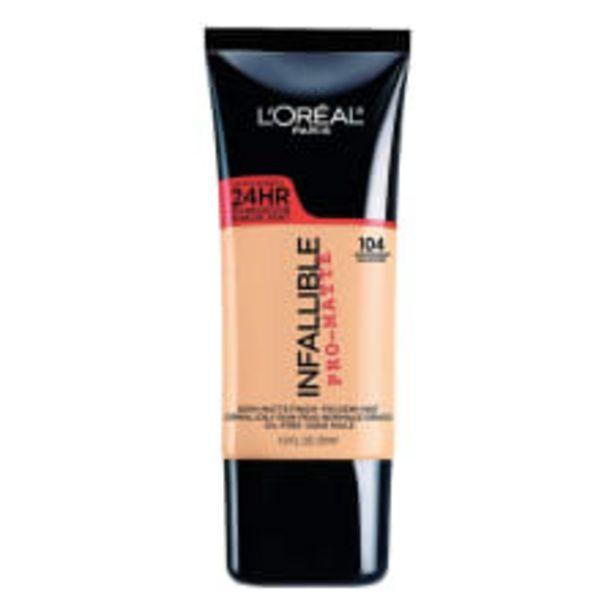 Oferta de Base de maquillaje L'Oréal Paris Infallible pro-matte 104 golden beige 30 ml por $289