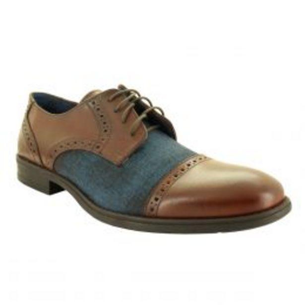 Oferta de Zapato Tipo Choclo 100% De Piel Color Azul Moderof por $699