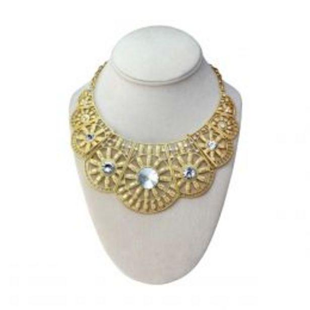 Oferta de Collar Dorado Con Patrones C2C por $139