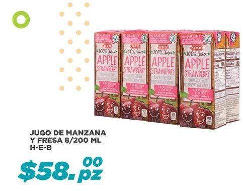 Oferta de Jugo De Manzana Y Fresa HEB por $58