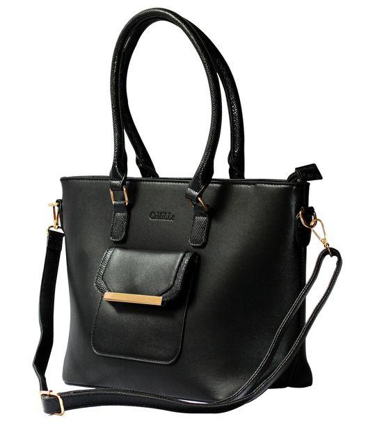 Oferta de Bolsa Shopping Bolso de Mano Mujer Dama Moda Negro por $529