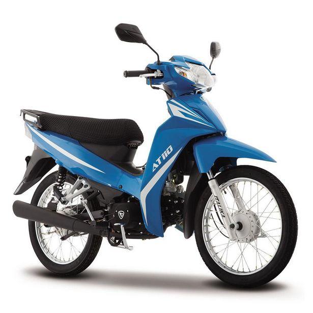 Oferta de Motocicleta de Trabajo Italika AT110 Azul con Blanco por $17499