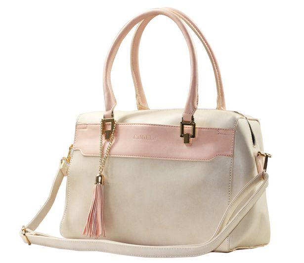 Oferta de Bolsa Satchel Bolso de Mano Mujer Dama Moda Rosa por $589